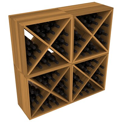 Karnes Redwood X-Cube 96 Bottle Floor Wine Rack Finish: Oak