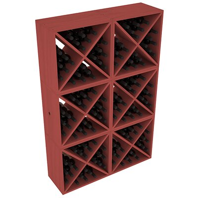 Karnes Pine X-Cube 144 Bottle Floor Wine Rack Finish: Cherry