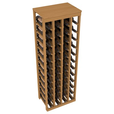 Karnes Pine 48 Bottle Floor Wine Rack Finish: Oak