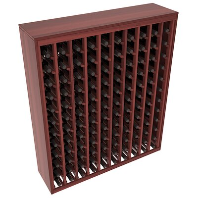 Karnes Redwood Deluxe 120 Bottle Floor Wine Rack Finish: Cherry Satin