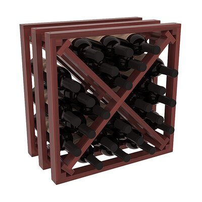 Karnes Redwood Lattice X-Cube 24 Bottle Tabletop Wine Rack Finish: Cherry Satin