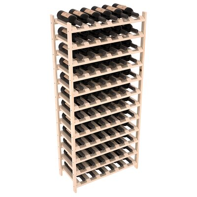 Karnes Pine Stackable 72 Bottle Floor Wine Rack Finish: Natural Satin