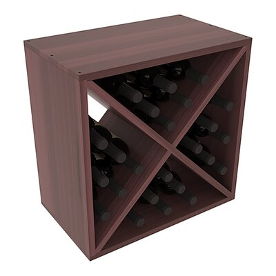 Karnes Redwood X-Cube 24 Bottle Tabletop Wine Rack Finish: Walnut Satin