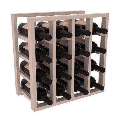 Karnes Pine Lattice 16 Bottle Tabletop Wine Rack Finish: Gray Satin