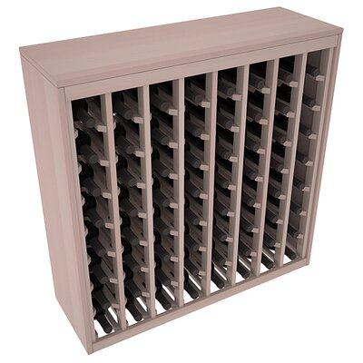 Karnes Redwood Deluxe 64 Bottle Floor Wine Rack Finish: Gray Satin