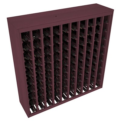Karnes Pine Deluxe 100 Bottle Floor Wine Rack Finish: Burgundy
