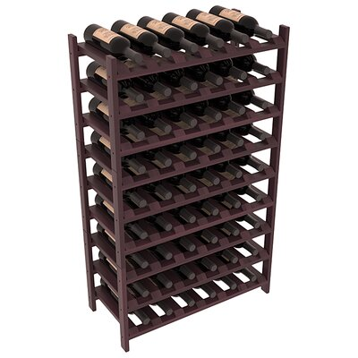 Karnes Redwood Stackable 54 Bottle Floor Wine Rack Finish: Burgundy Satin