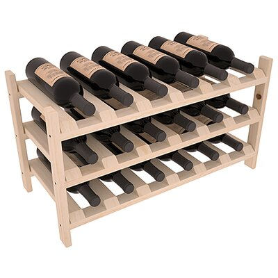 Karnes Pine Stackable 18 Bottle Tabletop Wine Rack Finish: Natural