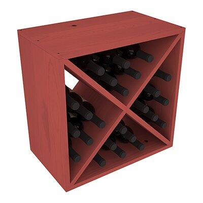 Karnes Pine X-Cube 24 Bottle Tabletop Wine Rack Finish: Cherry
