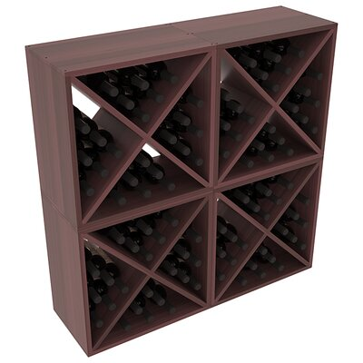 Karnes Redwood X-Cube 96 Bottle Floor Wine Rack Finish: Walnut Satin