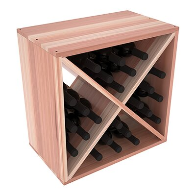 Karnes Redwood X-Cube 24 Bottle Tabletop Wine Rack Finish: Natural Satin