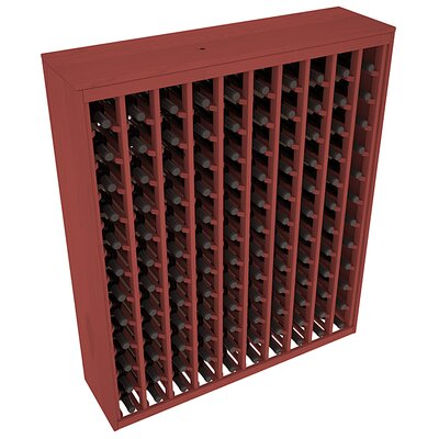 Karnes Pine Deluxe 120 Bottle Floor Wine Rack Finish: Cherry
