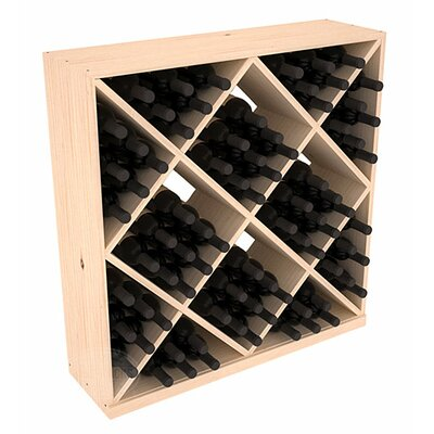 Karnes Pine Diamond Cube 82 Bottle Floor Wine Rack Finish: Natural