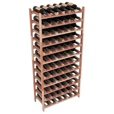 Karnes Redwood Stackable 72 Bottle Floor Wine Rack Finish: Natural