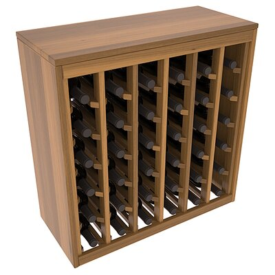 Karnes Redwood Deluxe 36 Bottle Floor Wine Rack Finish: Oak Satin