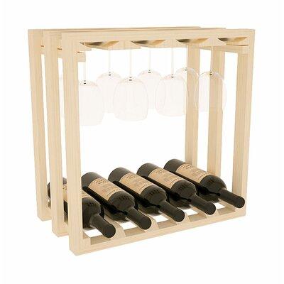 Karnes Pine Lattice Stemware Cube 10 Bottle Tabletop Wine Rack Finish: Natural