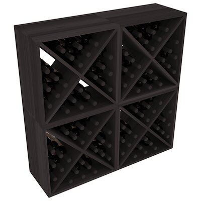Karnes Redwood X-Cube 96 Bottle Floor Wine Rack Finish: Black