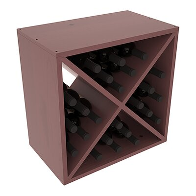Karnes Pine X-Cube 24 Bottle Tabletop Wine Rack Finish: Walnut Satin