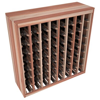 Karnes Redwood Deluxe 64 Bottle Floor Wine Rack Finish: Natural