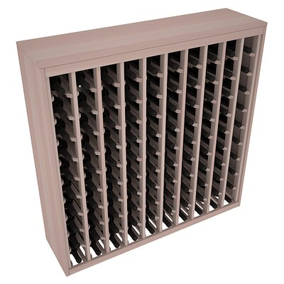 Karnes Redwood Deluxe 100 Bottle Floor Wine Rack Finish: Gray