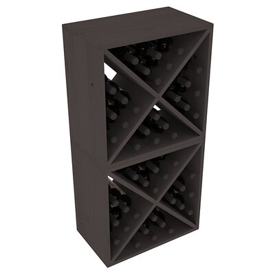 Karnes Pine X-Cube 48 Bottle Floor Wine Rack Finish: Black
