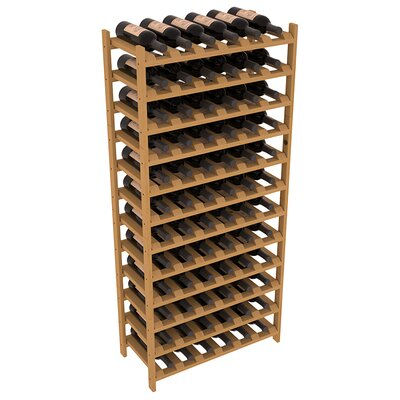 Karnes Pine Stackable 72 Bottle Floor Wine Rack Finish: Oak