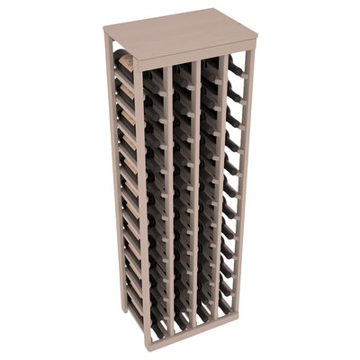 Karnes Pine 48 Bottle Floor Wine Rack Finish: Gray