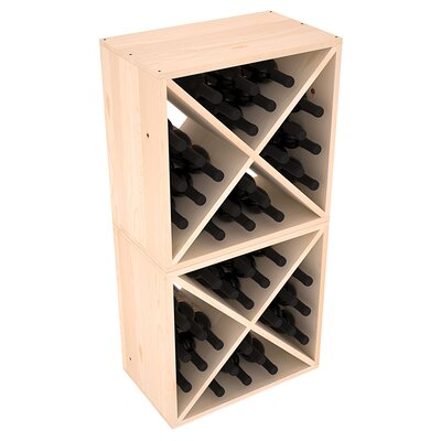 Karnes Pine X-Cube 48 Bottle Floor Wine Rack Finish: Natural