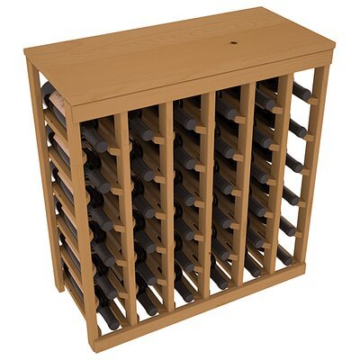 Karnes Pine 36 Bottle Floor Wine Rack Finish: Oak