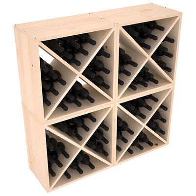 Karnes Pine X-Cube 96 Bottle Floor Wine Rack Finish: Natural