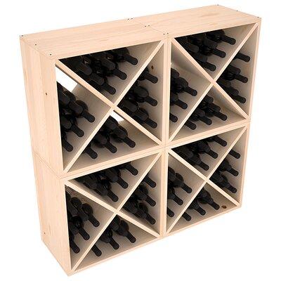 Karnes Pine X-Cube 96 Bottle Floor Wine Rack Finish: Natural