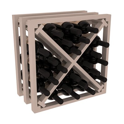 Karnes Pine Lattice X-Cube 24 Bottle Tabletop Wine Rack Finish: Gray