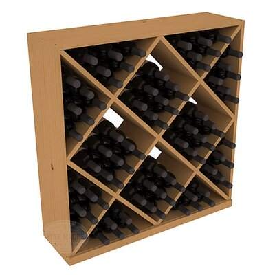 Karnes Pine Diamond Cube 82 Bottle Floor Wine Rack Finish: Oak