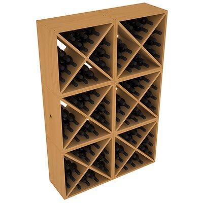 Karnes Pine X-Cube 144 Bottle Floor Wine Rack Finish: Oak