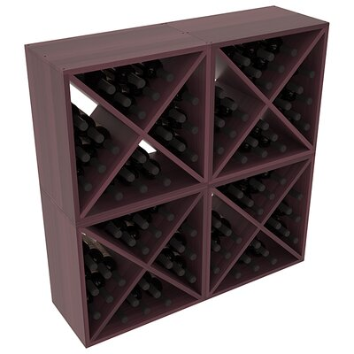 Karnes Redwood X-Cube 96 Bottle Floor Wine Rack Finish: Burgundy Satin