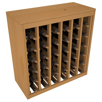 Karnes Pine Deluxe 36 Bottle Floor Wine Rack Finish: Oak