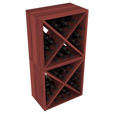 Karnes Redwood X-Cube 48 Bottle Floor Wine Rack Finish: Cherry