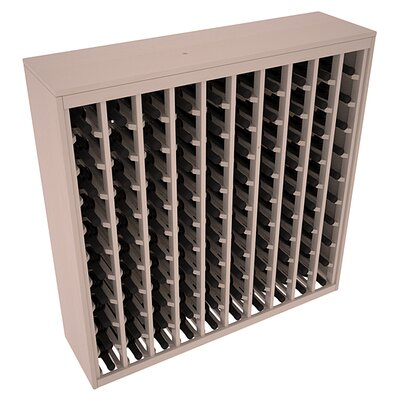Karnes Pine Deluxe 100 Bottle Floor Wine Rack Finish: Gray Satin