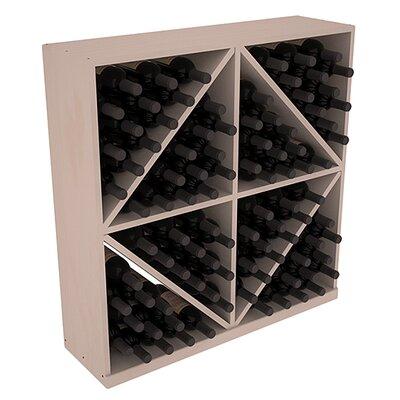 Karnes Pine Diamond Storage 96 Bottle Floor Wine Rack Finish: Gray
