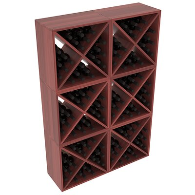 Karnes Redwood X-Cube 144 Bottle Floor Wine Rack Finish: Cherry Satin
