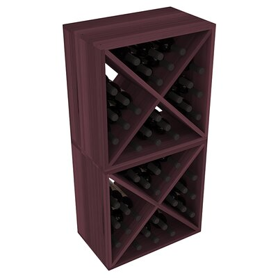 Karnes Redwood X-Cube 48 Bottle Floor Wine Rack Finish: Burgundy