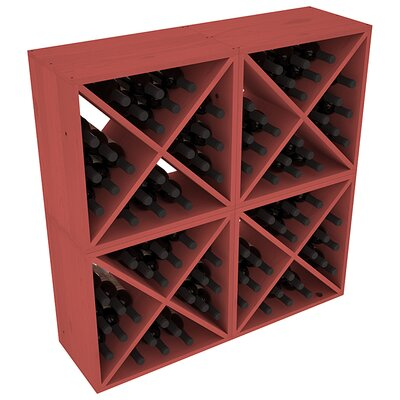 Karnes Pine X-Cube 96 Bottle Floor Wine Rack Finish: Cherry