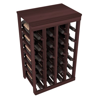 Karnes Redwood Table Top 24 Bottle Floor Wine Rack Finish: Walnut