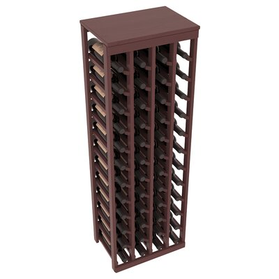 Karnes Pine 48 Bottle Floor Wine Rack Finish: Walnut Satin