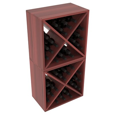 Karnes Redwood X-Cube 48 Bottle Floor Wine Rack Finish: Cherry Satin