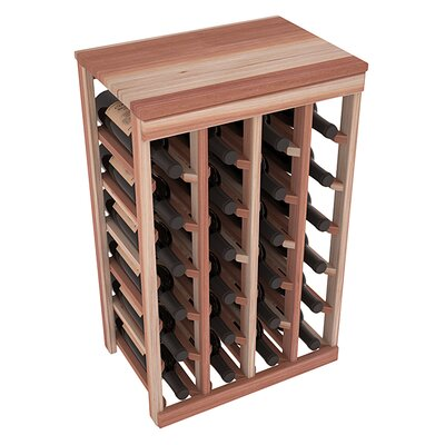 Karnes Redwood Table Top 24 Bottle Floor Wine Rack Finish: Natural