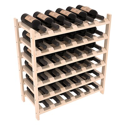 Karnes Pine Stackable 36 Bottle Floor Wine Rack Finish: Natural Satin