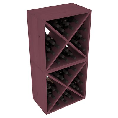 Karnes Pine X-Cube 48 Bottle Floor Wine Rack Finish: Burgundy