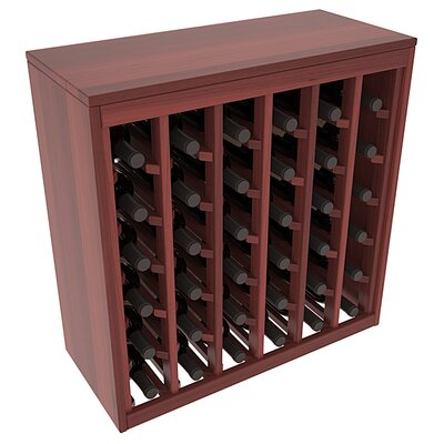 Karnes Redwood Deluxe 36 Bottle Floor Wine Rack Finish: Cherry Satin