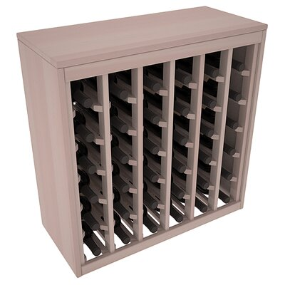 Karnes Redwood Deluxe 36 Bottle Floor Wine Rack Finish: Gray Satin